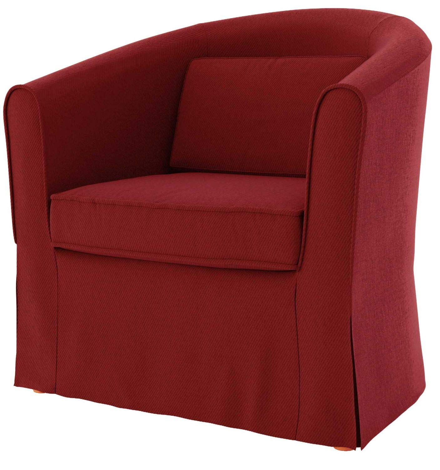 TLY Cotton Tullsta Armchair Cover for The IKEA Tullsta Chair Slipcover Replacement-Cotton Red