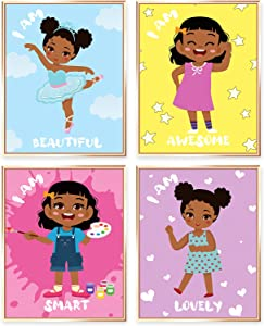 Motivational Wall Art Girls Room Decor Black Baby Girl Room Decor Inspirational Kids Room Wall Decor Inspirational Posters Unframed Poster For Girls Room Encouragement Gifts Cards 8 X10 Inches