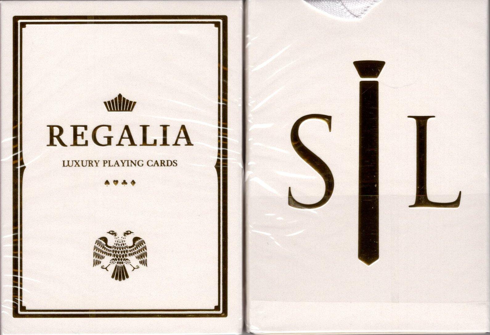 Regalia White Gold Luxury Playing Cards Poker Size Deck Shin Lim Cartamundi