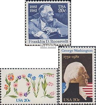 Prophila Collection EEUU Michel.-No..: 1527,1528A,1530 (Completa.edición.) 1982 Franklin D.Roosevelt, Postales, Washing (Sellos para los coleccionistas): Amazon.es: Juguetes y juegos