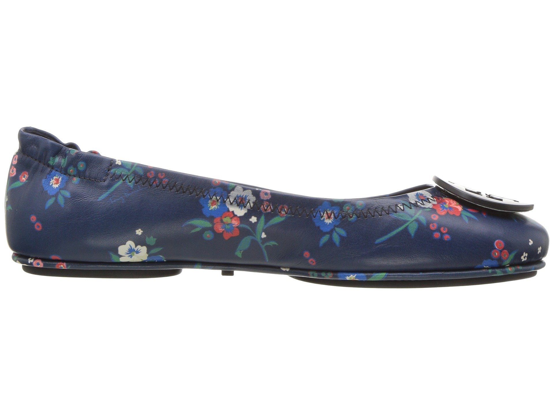 Tory Burch Minnie Travel Floral Print Lether Ballet Flat Size 8 by Tory Burch (Image #8)