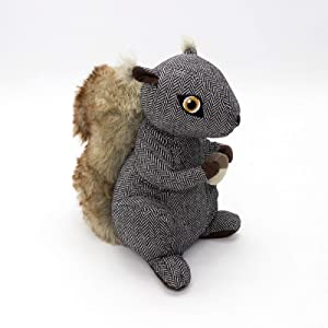 Cute Squirrel Decorative Door Stopper,Weighted Fabric Door Stopper for Home Decor,7.8x6.3x9.8 in