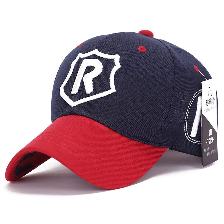 755cfe35bb710 2019 Vogue Running Man Hip Hop Hats Letter R Shield Sports Baseball Caps  Outdoor Golf Casquette Women Men hat at Amazon Men s Clothing store