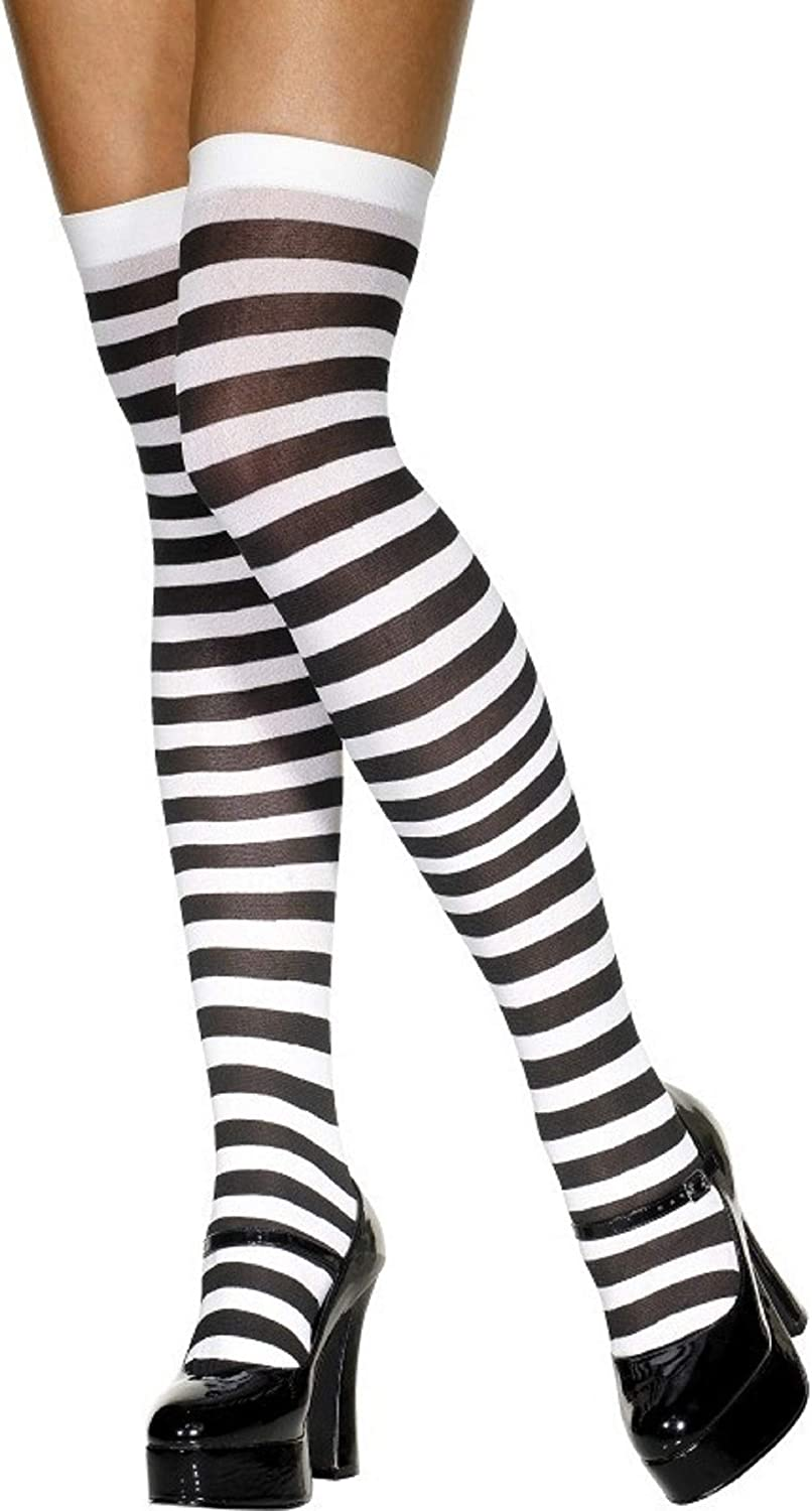 Hold-Ups Black /& White Striped with Handcuffs-Police Fancy Dress-Hen Nights