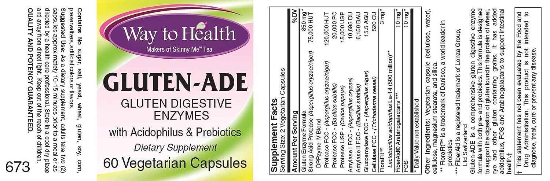 Amazon.com: Gluten – Ade con Acidophilus y prebióticos ...