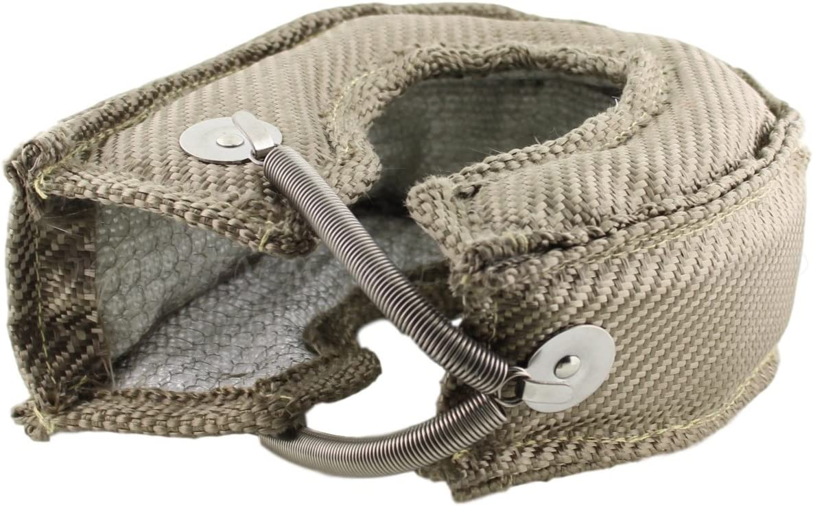 Big T6 JCP Mesh Lined Titanium Turbo Blanket Heat Shield With Stainless Steel Springs