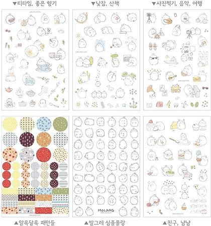 12 Sheets Cute Rabbit Kids Diary Card Calendar Sticker Label Scrapbooking Crafts