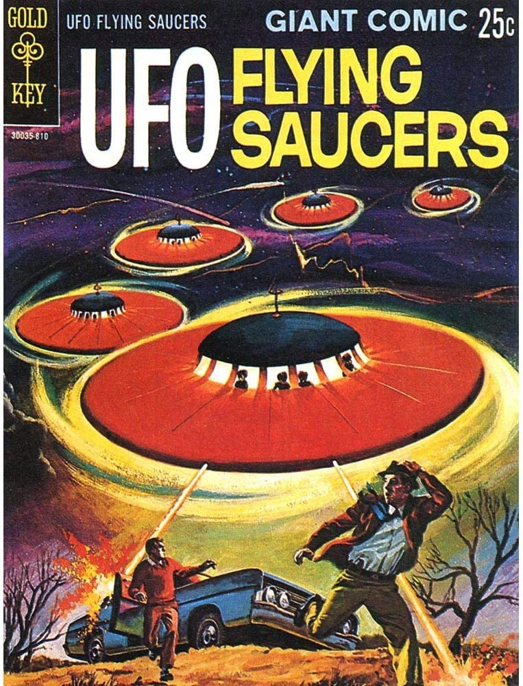 Wee Blue Coo Comic Book Cover UFO Flying Saucers Alien Sci Fi Unframed Wall Art Print Poster Home Decor Premium