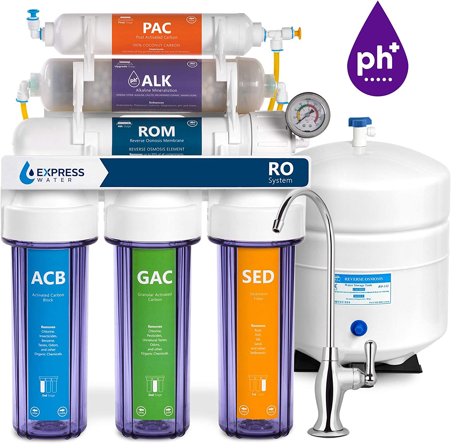 Alkaline Reverse Osmosis Filtration System