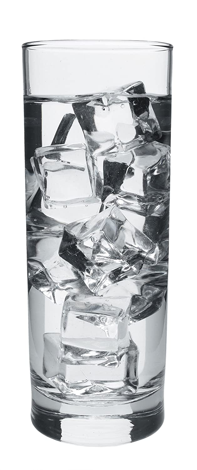 Red Co Set of 6 Everyday Water Drinking Cooler Glasses 12 1//4 Ounces ALOP06