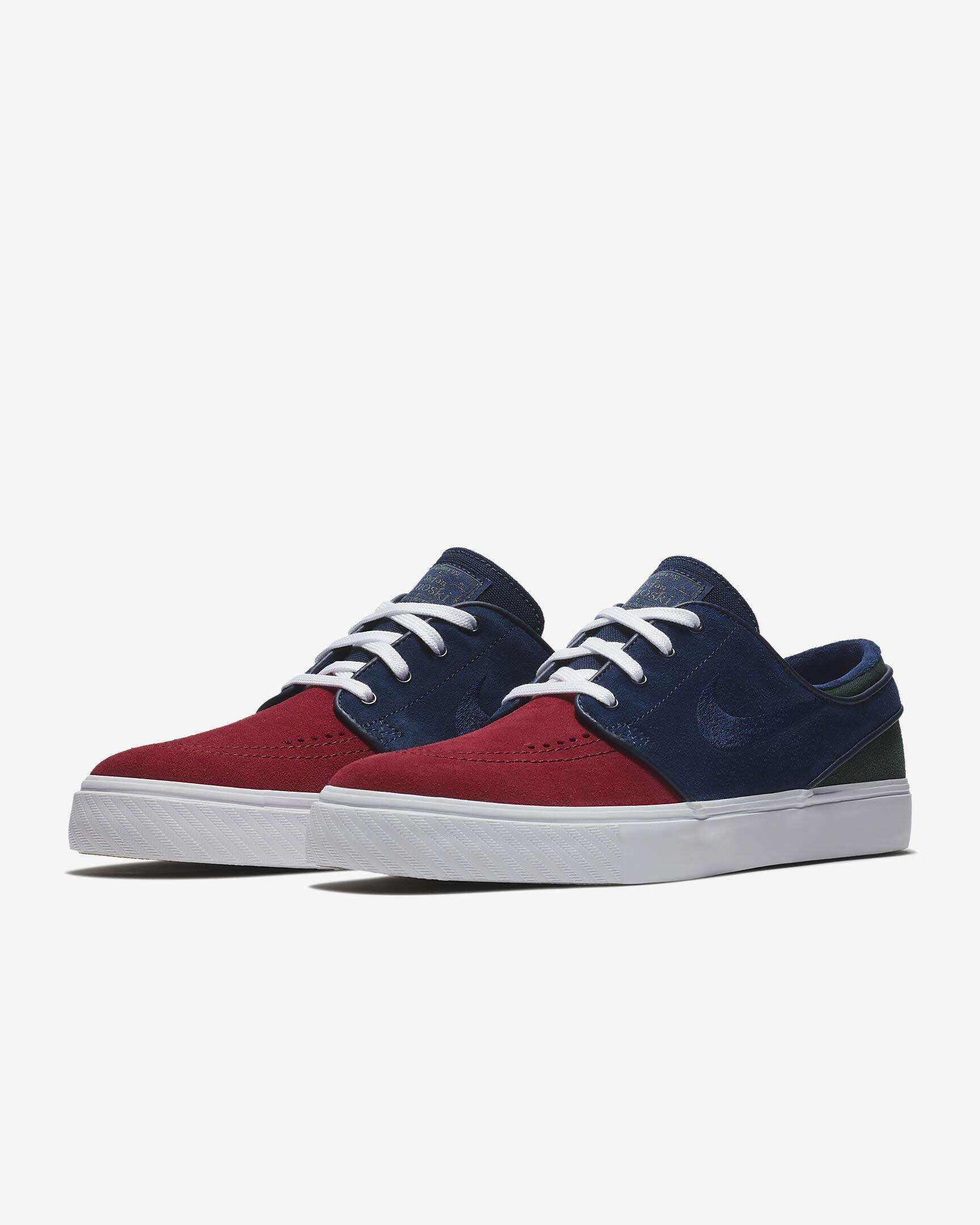 9c974a89ead40 Galleon - Nike Zoom Stefan Janoski Mens Fashion-Sneakers 333824-641 10 - RED  Crush Blue Void-White-Midnight Green
