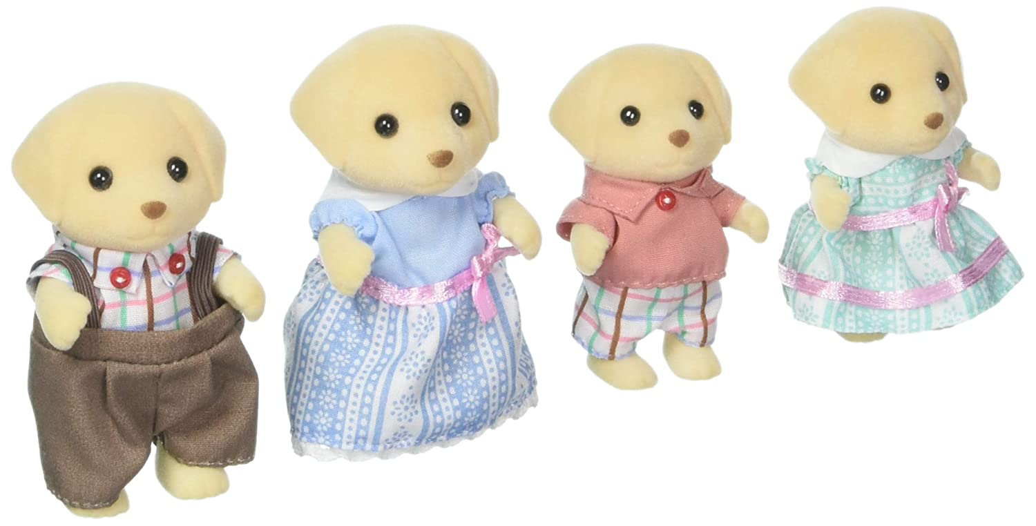 Calico Critters giallo Lab Family