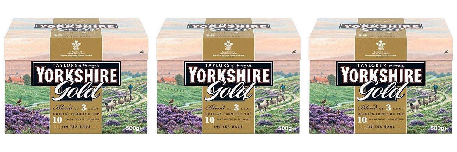 Taylors of Harrogate Yorkshire Gold, 160 Teabags - 3 Pack