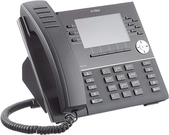 Mitel MiVoice 6930 - Teléfono IP (Negro, Terminal inalámbrico, 10 m, TFT, 480 x 272 Pixeles, 10,9 cm (4.3