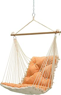 product image for Hatteras Hammocks Adaptation Apricot Sunbrella Tufted Single Swing, 350 LB Weight Capacity, Handcrafted in The USA, Perfect for Indoor or Outdoor Use