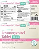 Levonorgestrel Tablet, 1.5 mg.