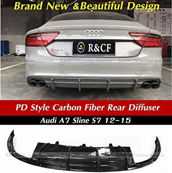 RS Style Glossy Black Grill Grille For 2013 13 14 15 Audi A7 S7 Black Rings