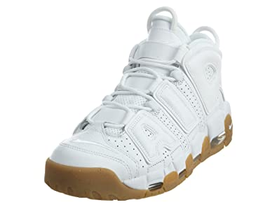 best cheap 58558 d493d Nike Air More Uptempo, Chaussures de Sport - Basketball Homme, Blanco  White-Bamboo
