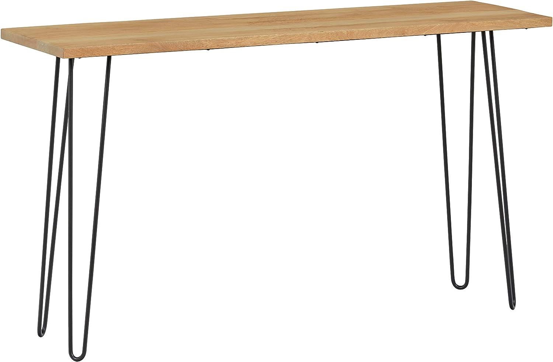 Rivet - Mesa de consola industrial con patas de horquilla de metal, 55.12 pulgadas de ancho: Amazon.es: Juguetes y juegos