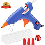 Hot Glue Gun, WEIO Rapid Heating Technology Hot Glue Gun with 25pcs Glue Sticks, High Temperature Melting Glue Gun Kit Flexible Trigger for DIY Arts, Craft Projects &Sealing Finger Caps