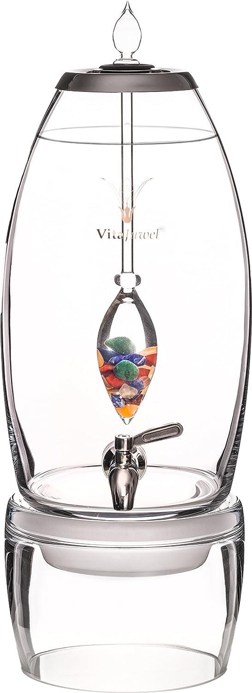 Vita Juwel® Dispensador de agua grande 7 L de agua con piedras preciosas palo en el Set - Piedras preciosas piedras Agua belebung Agua de piedras preciosas ...