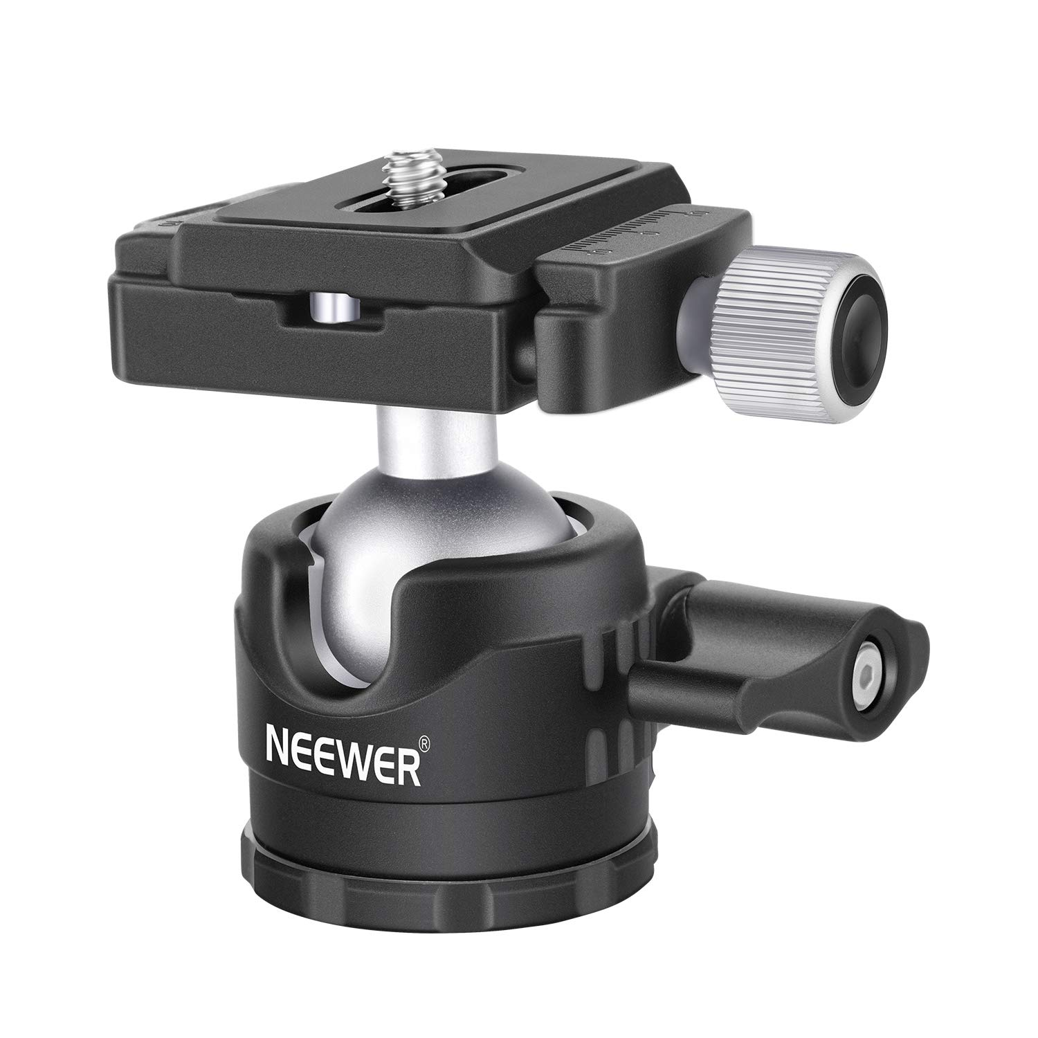Neewer Low-Profile Ball Head 360 Degree Rotatable Tripod Head for DSLR Cameras Tripods Monopods by Neewer