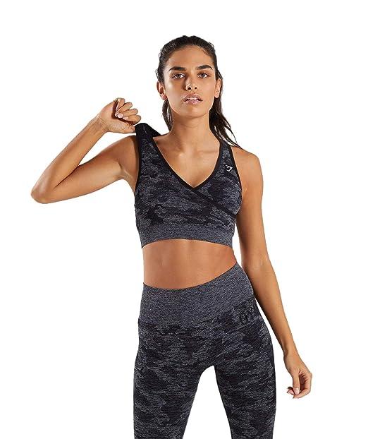 top-rated fashion brand quality pretty cool GYMSHARK Womens CAMO Seamless Sports Bra Women Running Fitness Yoga Bras  Top Workout Gym Sportswear