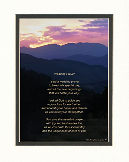 Wedding Gift For The Couple With Wedding Prayer Poem Mountains Sunset Photo