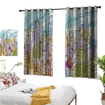 Amazon.com: New York Decorative Curtains for Living Room ...