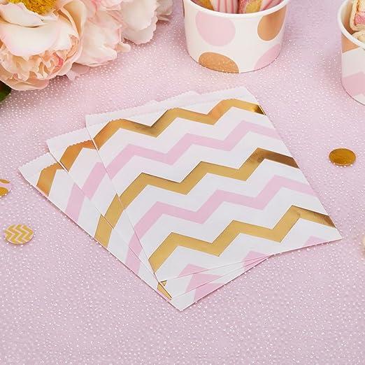 ZigZag bolsas papel rosa oro 16,5 x 13 cm 25 unidades ...