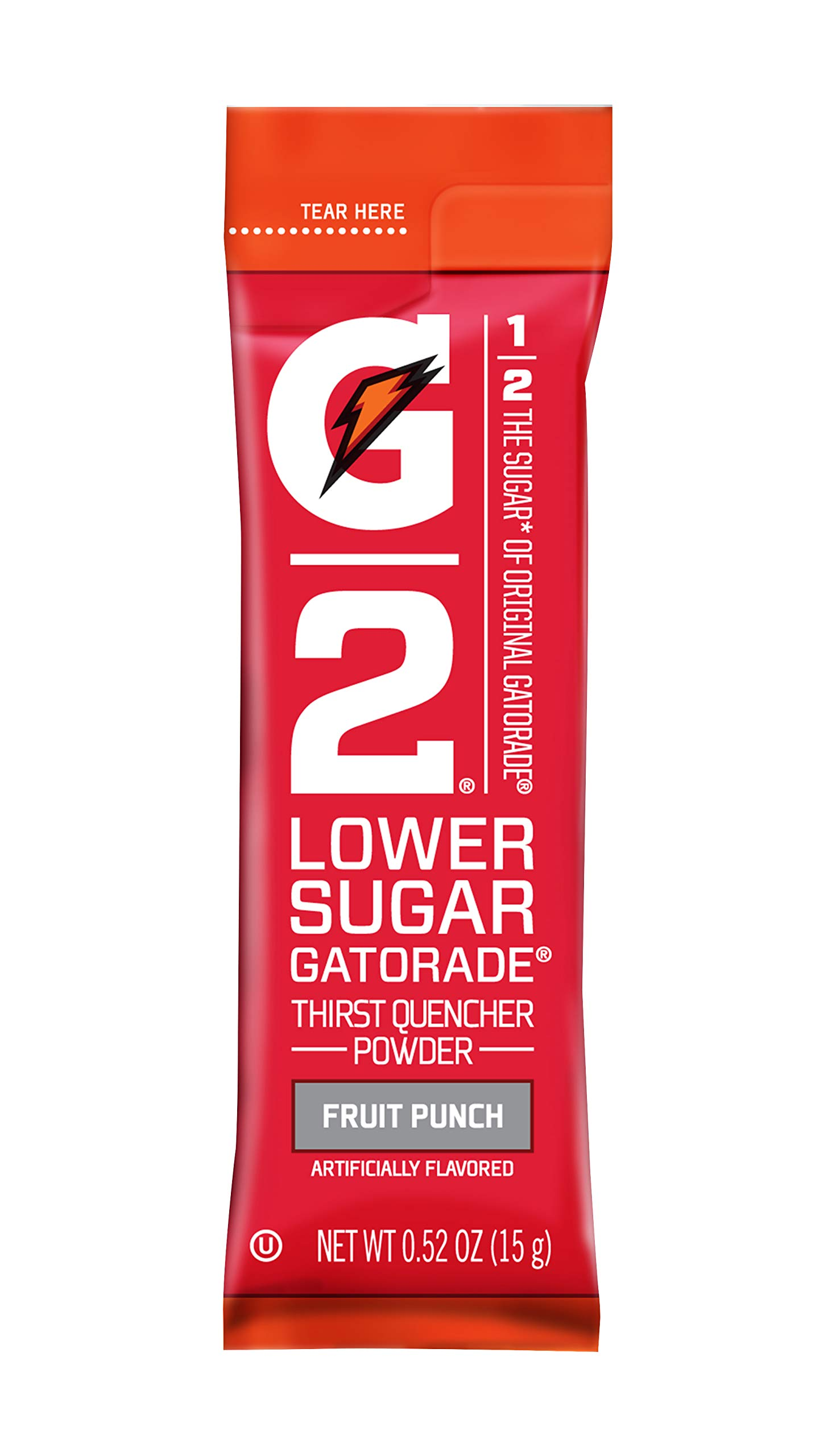 Gatorade 13168 G2Instant Powder Sticks, Fruit Punch, 20 oz. (Pack of 64)