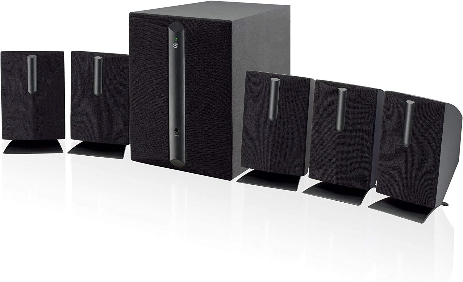 GPX HT050B 5.1 Channel Home Theater Speaker System (Black) (Renewed)