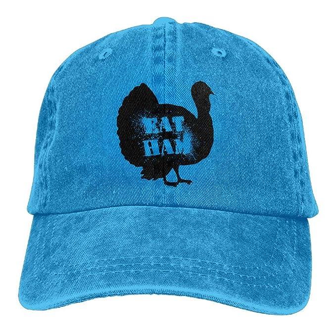 yting Gorra Vintage Coma jamón Seis Paneles de impresión 3D Sombrero de béisbol Ajustable para Royal Blueblis Natural Unisex: Amazon.es: Ropa y accesorios