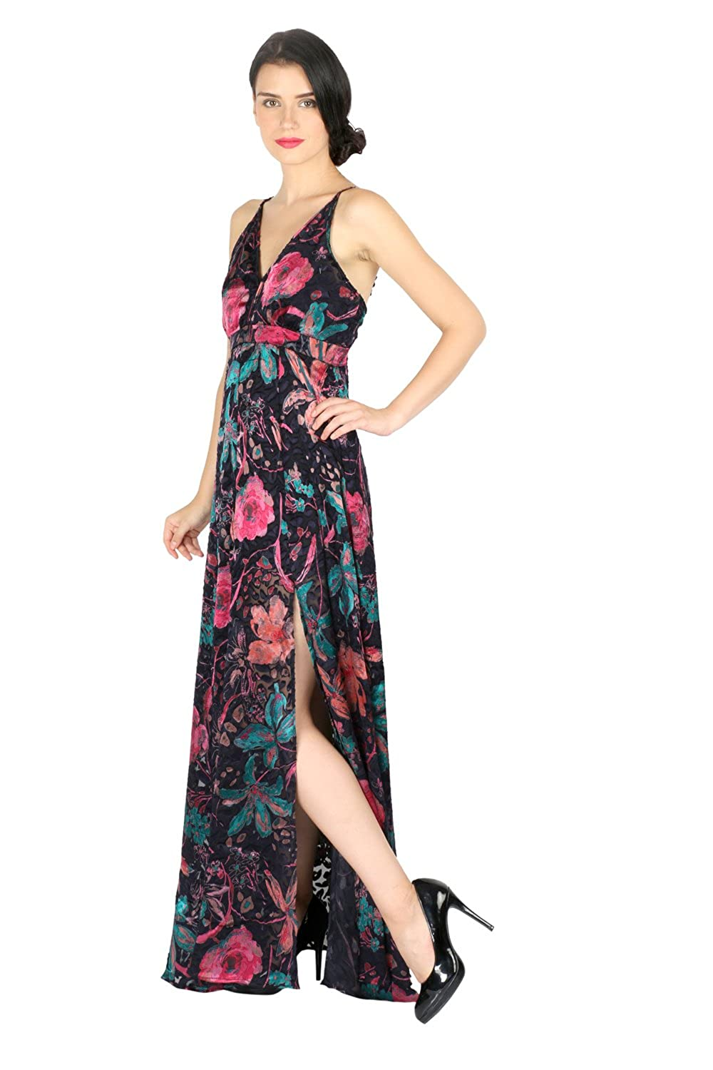Aaliya Women's Brasso Floral Print Dress