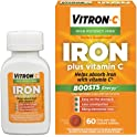 Vitron-C High Potency Iron Supplement with Vitamin C 60-Count Bottle