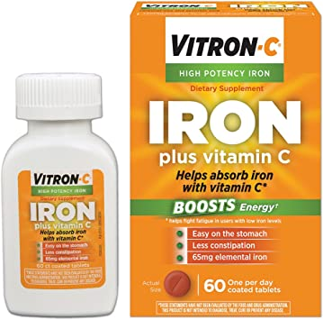 Amazon.com: Vitron-C Suplemento de hierro de alta potencia ...