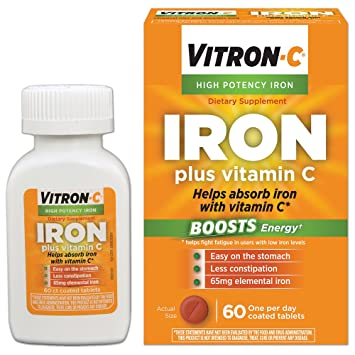 Amazing Vitron C High Potency Iron Supplement With Vitamin C 60 Count Machost Co Dining Chair Design Ideas Machostcouk