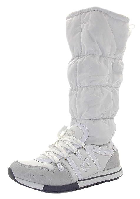 Dude Blanco Color De Botas Talla Nieve Cortina Mujer Tela Hey dBq08x1d