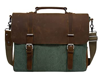 Amazon.com: ECOSUSI Vintage Canvas Leather 14.7
