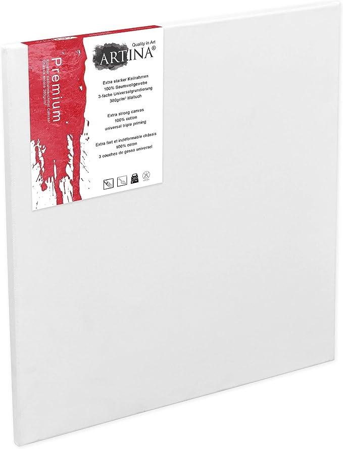 ARTONLY Tela nera allungata Nero 60 x 80 cm