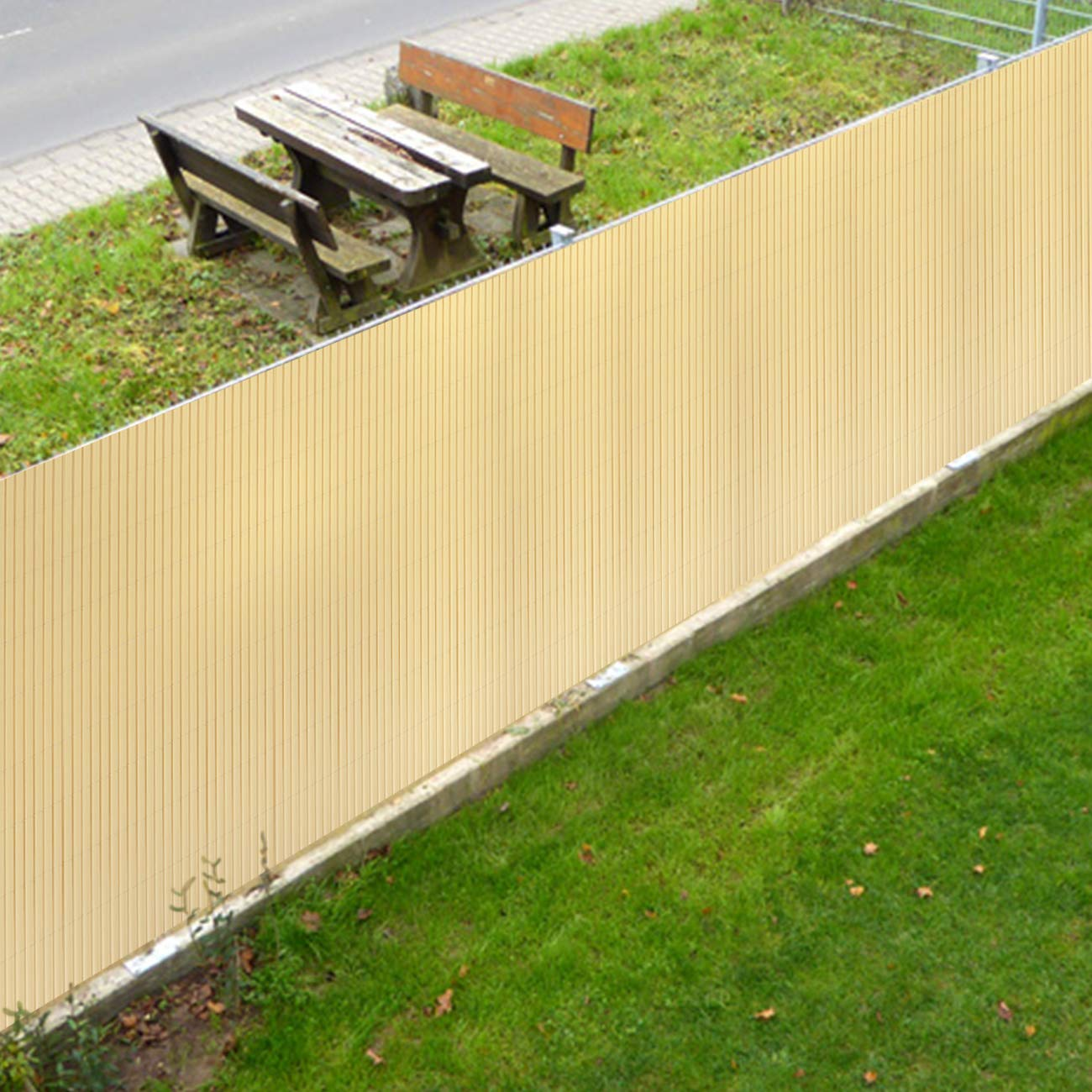 con Superficie Strutturata Sekey PVC Recinzione Frangivista Decorativa per Giardino Antracite 80 x 300 cm Anti-Muffa con Fascette Balcone e terrazza Resistente agli Agenti atmosferici