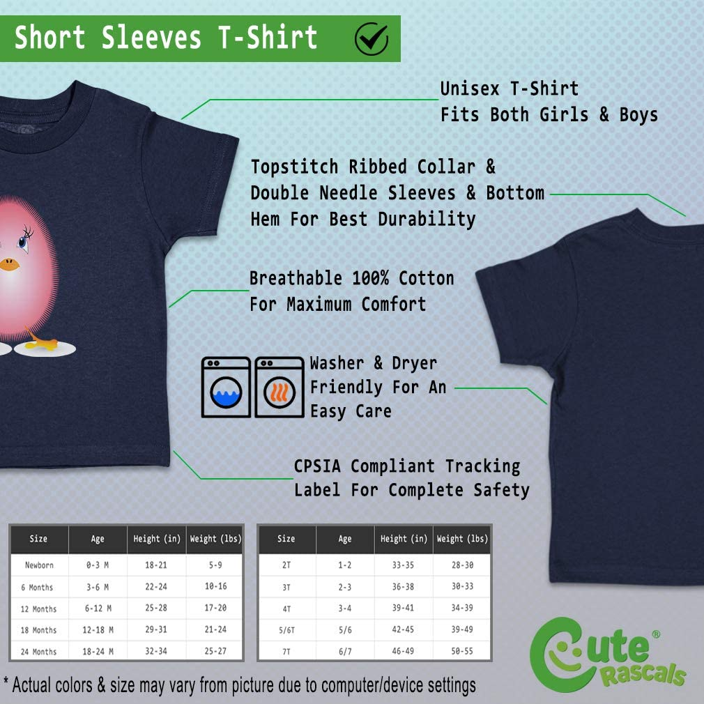 Custom Baby /& Toddler T-Shirt Little Fluffy Chick Pink Cotton Boy Girl Clothes