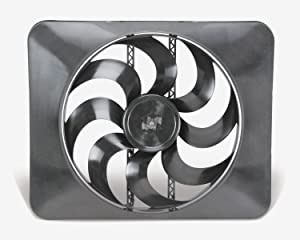 "Flex-a-lite 180 Black Magic X-treme 15"" Reversible Electric Fan"