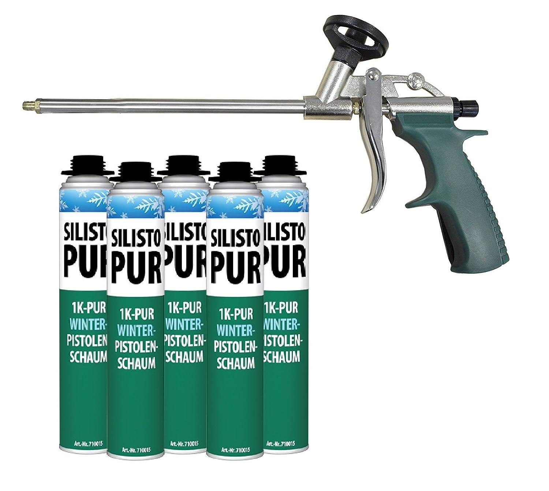 silisto Pur 1 K Invierno Pistola de espuma 5 x 750 ml Hasta de 10 ...