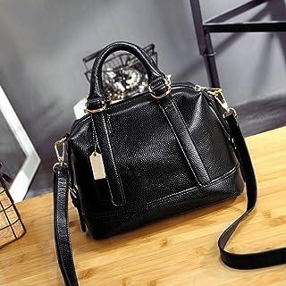 Sac à Bandoulière Mode Classique Classique Rétro Boston Épaule Sac à Main Diagonale Portable , noir