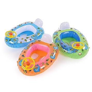 CLE DE TOUS - Flotador para Niños Niñas Bebés de 15-20kg en Forma de Coche con Dibujo Pato Color Aleatorio #157: Amazon.es: Juguetes y juegos