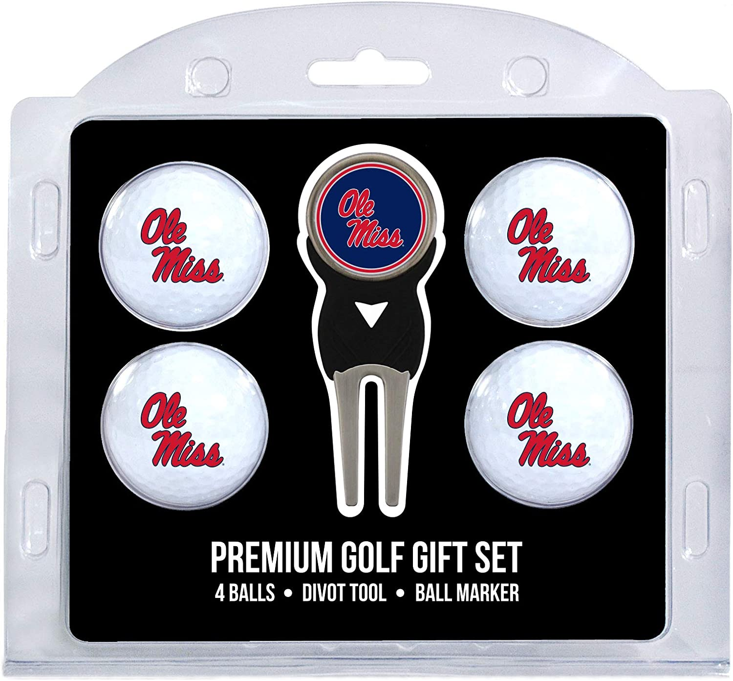 B0001TAOEW Team Golf NCAA Golf Balls (4 Count) & Divot Tool with Removable Double-Sided Magnetic Marker 71raYMpZH2L