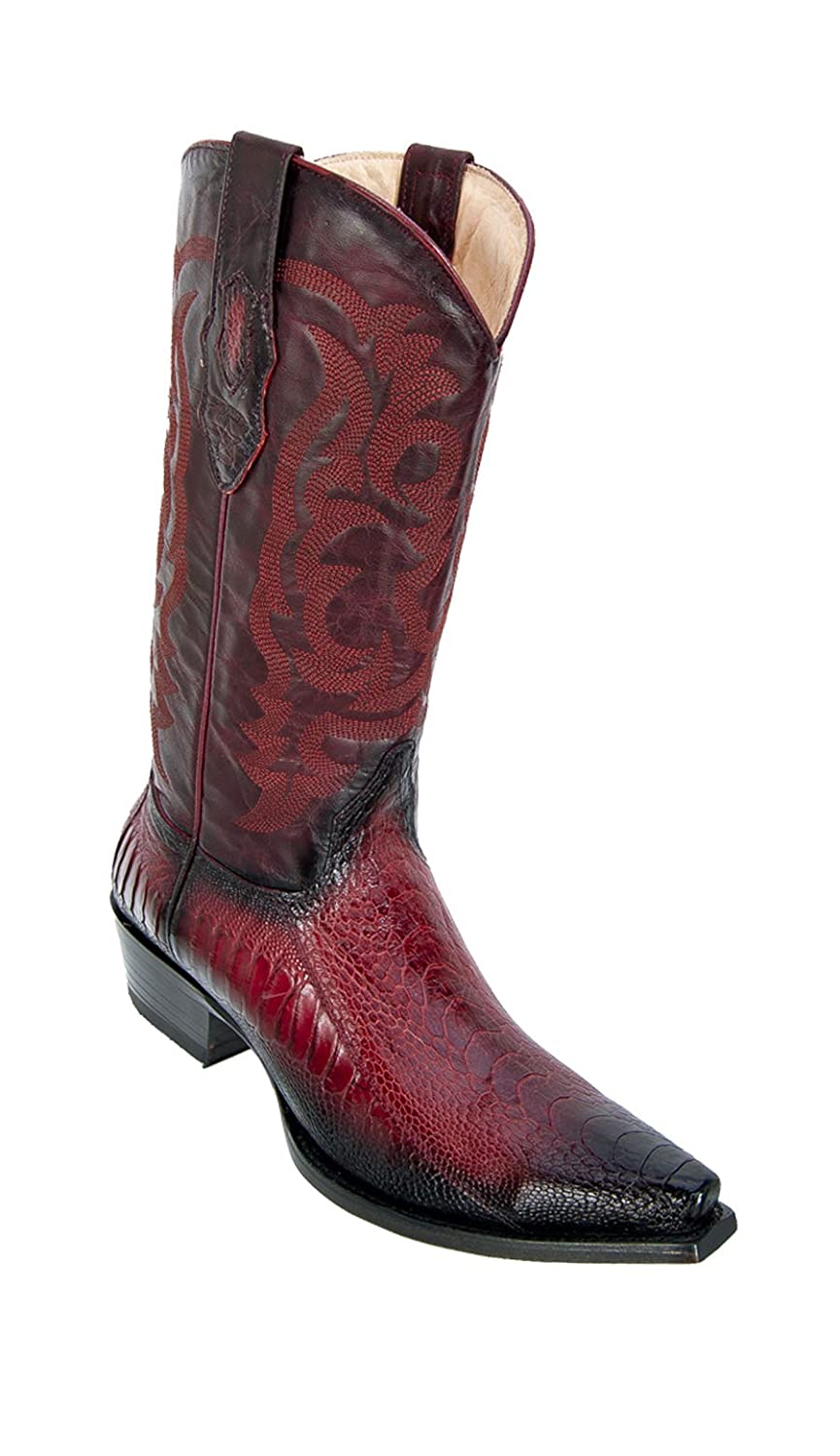 401cac07eba Men's Sinp Toe Genuine Leather Ostrich Western Boots - Ostrich Leg Exotic  Skin Boots