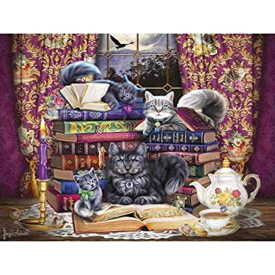 Buffalo Games Storytime Cats Jigsaw Puzzle: Toys & Games