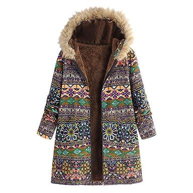 f62e9797782a Elecenty Damen Wintermantel Winterjacke Reißverschluss Übergröße Outwear  Baumwollkleidung Parkajacke Mantel Jacke Reißverschluss Oberbekleidung  Trenchcoat ...